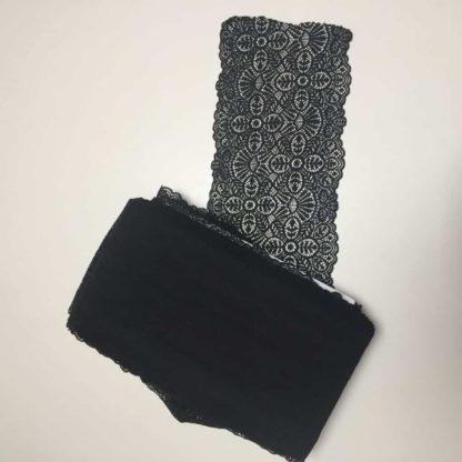 Černá krajka diagonální vzor